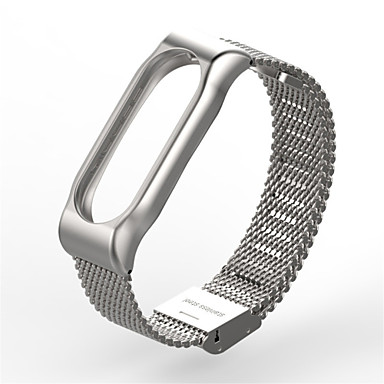 Watch Band for Mi Band Mi Band 2 Xiaomi Milanese Loop Stainless Steel Wrist Strap