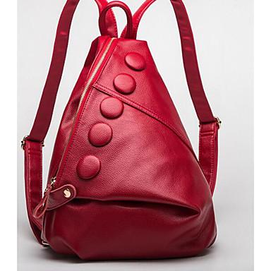 Women's Bags Cowhide Backpack for Casual All Seasons Brown Black Red