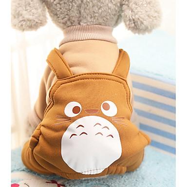 Cachorro Fantasias Casacos Macacão Calças Roupas para Cães Animal Roxo Café Vermelho Algodão Ocasiões Especiais Para animais de estimação