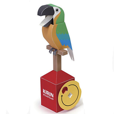 3D-puslespill Papirmodell Papirkunst Modellsett Parrot GDS Hardt Kortpapir Klassisk Tegneserie Barne Unisex Gave