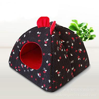 Cachorro Camas Animais de Estimação Capachos e Alcochoadas Flor Quente Macio Preto Cinzento Café Azul Rosa claro Para animais de estimação