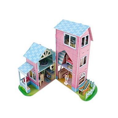 3D építőjátékok Fejtörő Babaház Papírmodell Népszerű épület Fa Gyermek Uniszex Ajándék