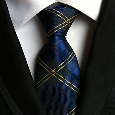 Men's Polyster Necktie,Striped Neckwear Striped All Seasons Navy Blue