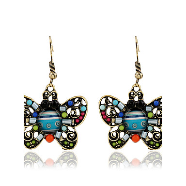 Women's Hoop Earrings Personalized Vintage Bohemian Fashion Metal Alloy Resin Jewelry Gift Casual Stage Street Date Costume Jewelry