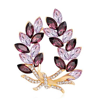 Mulheres Broches - Flor Fashion, Euramerican Broche Dourado Para Ocasião Especial / Festa / Eventos / Diário / Casual