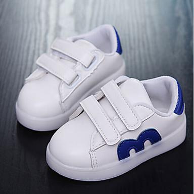 Poikien Kengät PU Kevät Ensikengät Bootsit Käyttötarkoitus Kausaliteetti Valkoinen