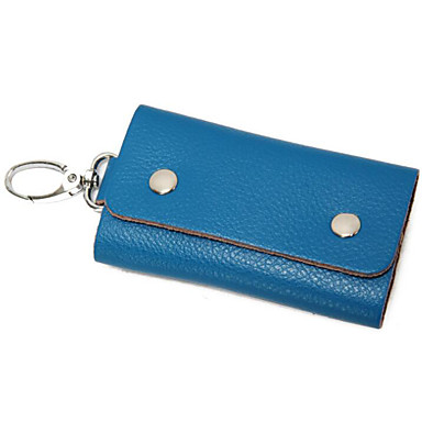 Unisex Bags Cowhide Key Holder for Casual Outdoor All Seasons Blue Red Brown
