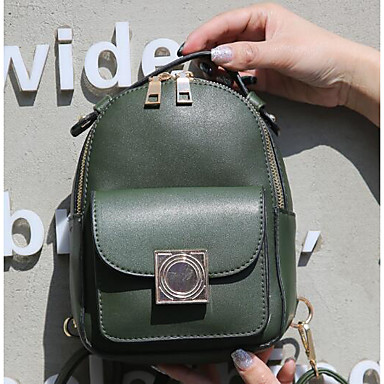 Women's Bags PU Backpack for Casual All Seasons Green Black Red