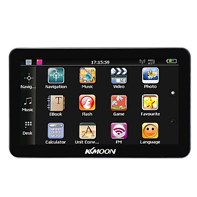 kkmoon 7 kannettava HD -näyttö GPS 128MB ram 4gb rom mp3 fm videotoiston bluetooth auton viihdejärjestelmä, johon selkätuki ilmainen