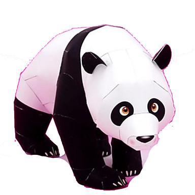 Quebra-Cabeças 3D Maquetes de Papel Brinquedos de Montar Quadrada Pato Urso Panda Animais Faça Você Mesmo Cartão de Papel Duro Clássico