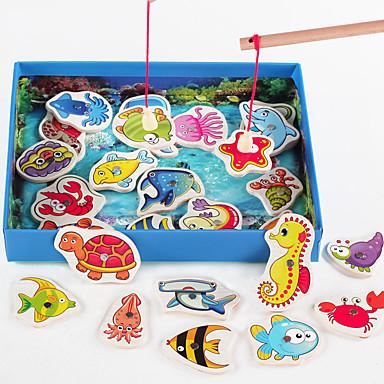 Brinquedos de pesca Magnética Tamanho Grande Quadrada Peixes Crianças Para Meninos Dom