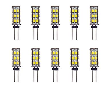 10pcs 2W 145lm G4 LED Bi-pin Lights 26 LED Beads SMD 2835 Warm White / White 12V / 10 pcs
