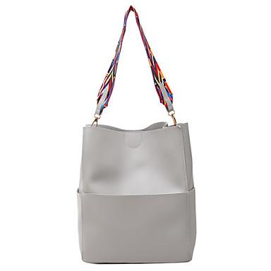 Women Bags All Seasons PU Bag Set for Casual Blue Black Gray Brown