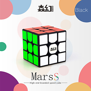 Rubik's Cube 3*3*3 Smooth Speed Cube Magic Cube Educational Toy Stress Relievers Puzzle Cube Smooth Sticker Plastics PVC Square Gift