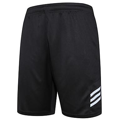 Herre Dame Shorts til jogging Shorts Bunner Fukt Wicking Fort Tørring Pustende til Løper Trening & Fitness Basketball Løstsittende Svart