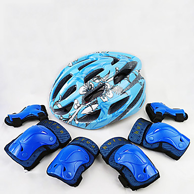 Kids' Protective Gear Knee Pads + Elbow Pads + Wrist Pads Skate Helmet for Cycling Skateboarding Inline Skates Roller Skates Eases pain