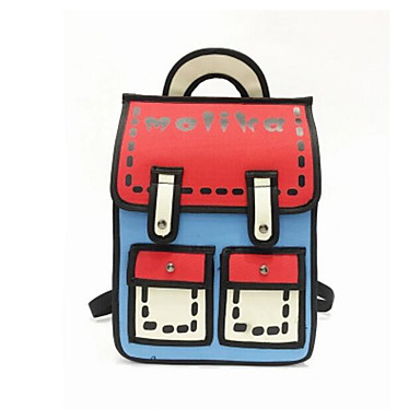 Women's Bags PU Backpack for Casual Outdoor All Seasons Red Blushing Pink Yellow