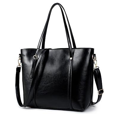 Women's Bags PU Shoulder Bag for Casual All Seasons Black Red Brown