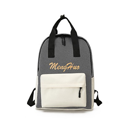 Unisex Bags Canvas Backpack for Casual All Seasons White Black