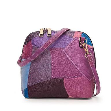 Women Bags All Seasons PU Shoulder Bag for Casual Outdoor Blue Gray Purple