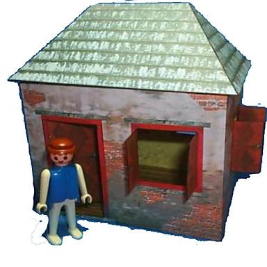 Quebra-Cabeças 3D Maquetes de Papel Artesanato de Papel Brinquedos de Montar Casa Faça Você Mesmo Cartão de Papel Duro Clássico Desenho