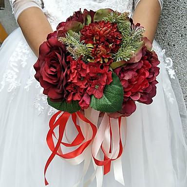 Bouquets de Noiva Buquês Casamento Poliéster 9.84