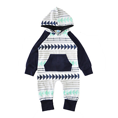 Baby Boys' Print Long Sleeve Cotton Overall & Jumpsuit / Toddler