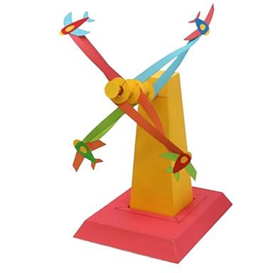 Quebra-Cabeças 3D Maquetes de Papel Artesanato de Papel Brinquedos de Montar Quadrada Aeronave 3D Faça Você Mesmo Cartão de Papel Duro