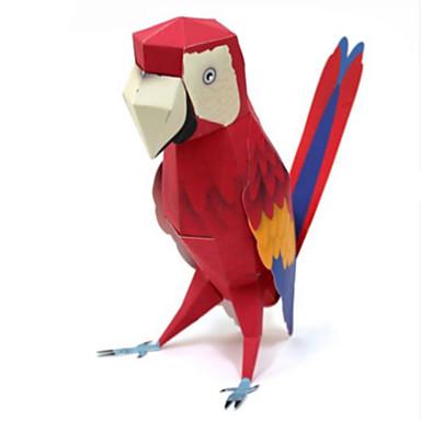 Quebra-Cabeças 3D Maquetes de Papel Artesanato de Papel Brinquedos de Montar Quadrada Cavalo Parrot Faça Você Mesmo Cartão de Papel Duro