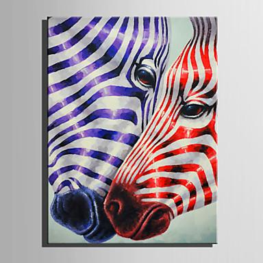 Hang-Painted öljymaalaus Maalattu - Eläimet Nykyaikainen Kangas