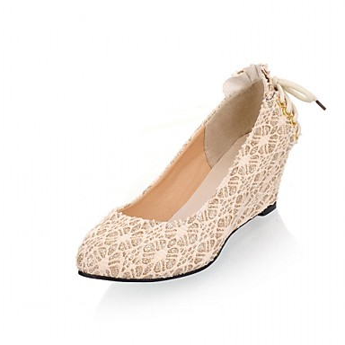 Mulheres Sapatos Couro Ecológico Courino Sintético Verão Outono Inovador Conforto Sandálias Caminhada Salto Plataforma Ponta Redonda