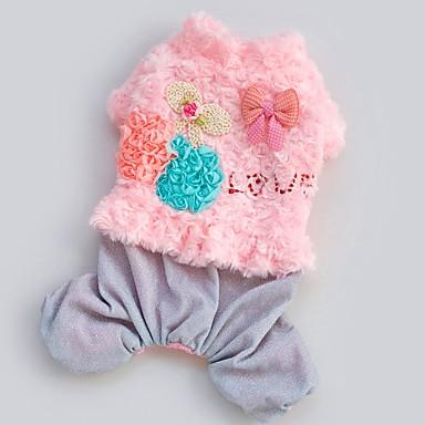 Dog Costume Dog Clothes Cosplay Floral/Botanical Blushing Pink