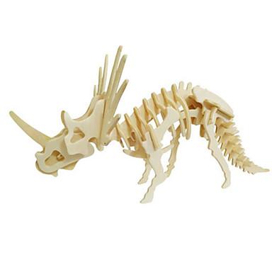 Quebra-Cabeças 3D Quebra-Cabeça Modelos de madeira Brinquedos de Montar Dinossauro Animal 3D Simulação Faça Você Mesmo Madeira Madeira