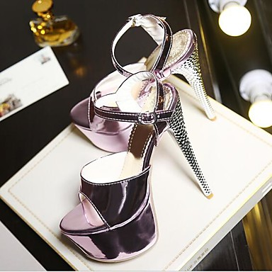 Women's Shoes PU Summer Comfort Sandals For Casual Gold Silver Purple