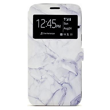 Capinha Para Samsung Galaxy J7 (2016) J5 (2016) Porta-Cartão Com Suporte Estampada Capa Proteção Completa Mármore Rígida PU Leather para