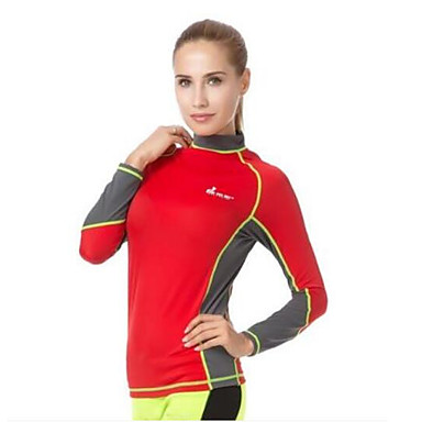 Women's Boating LYCRA® Diving Suit Long Sleeves Top-Swimming Beach Surfing Watersports Sailing All Seasons Solid Classic Fashion