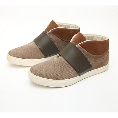 Men's Shoes Fabric Spring Fall Comfort Sneakers for Casual Coffee