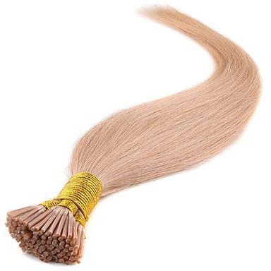 Febay Fusion / I Tip Ludzkich włosów rozszerzeniach Klasyczny Doczepy z naturalnych włosów Włosy naturalne Damskie - Ciemny kasztan Jasny blond Średni brąz