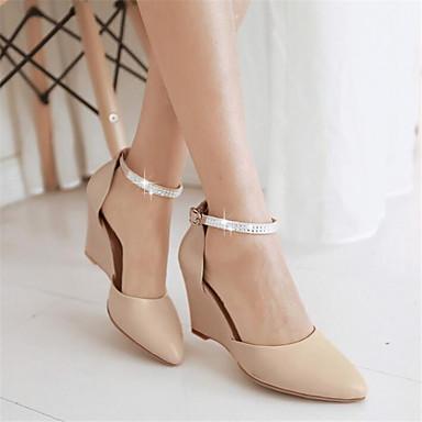 les chaussures de confort du printemps sandales sandales sandales chunky talon de talon aiguille wedge talon pour des Blanc  Violet  nu 632207