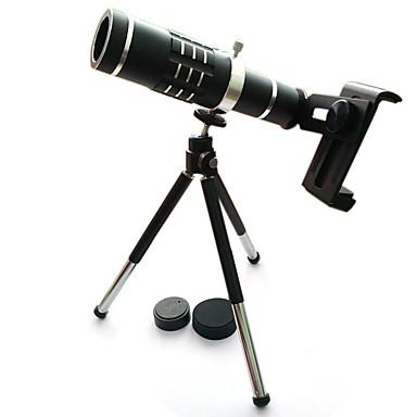 High quality 18x Zoom Optical Telescope Telephoto Lens Kit Phone Camera Lenses With Tripod For iPhone 6 7 Samsung S7 Xiaomi mi6 (Black)