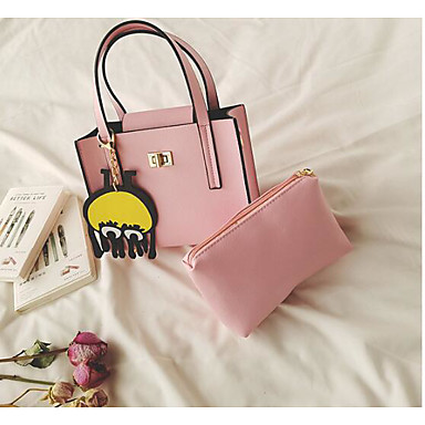 Women Bags All Seasons PU Shoulder Bag for Casual Outdoor White Black Blushing Pink