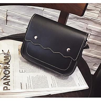 Women Shoulder Bag PU All Seasons Casual Outdoor Cylinder Zipper Black Gray Brown