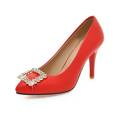 Synthétique Polyuréthane Chaussures Talons Bout à Marche Nouveauté Strass 05991417 Confort Talon Automne Femme Eté Aiguille Chaussures pointu wEq5dqA