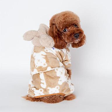 Hund Pyjamas Hundeklær Dyr Svart kaffe Rosa Bomull Kostume For kjæledyr Herre Dame Fritid/hverdag