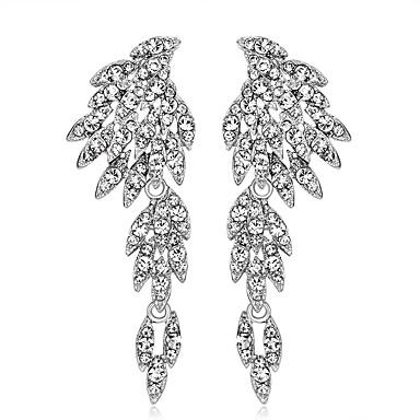 Mulheres Brincos Compridos - Personalizada Original Euramerican Fashion Branco Asas / Penas Brincos Para Casamento Ocasião Especial