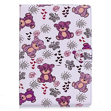 Capinha Para Apple iPad 4/3/2 iPad Air 2 Origami Estampada Capa Proteção Completa Animal Rígida PU Leather para iPad 4/3/2 iPad Air 2