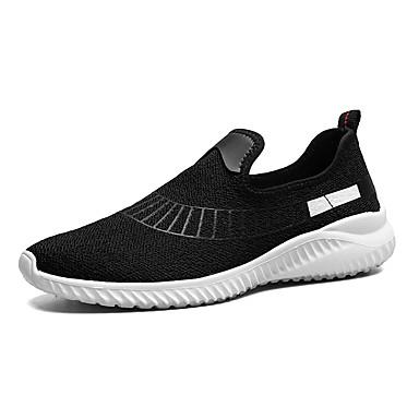 Homens sapatos Tricô / Materiais Customizados Primavera / Outono Conforto Tênis Caminhada Preto / Cinzento / Vermelho