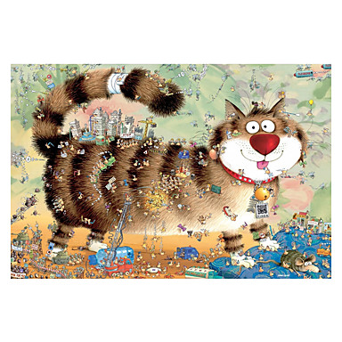 Jigsaw Puzzle Toys Cat Ship Wooden Wood Unisex Pieces