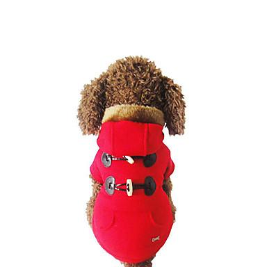 Cachorro Camisola com Capuz Roupas para Cães Casual Sólido Cinzento Vermelho Ocasiões Especiais Para animais de estimação