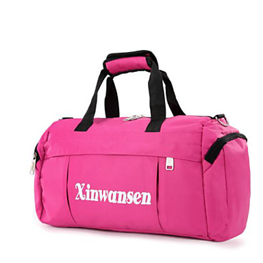Unisex Travel Bag Oxford Cloth Polyester All Seasons Casual Outdoor Round Zipper Blue Black Red Blushing Pink